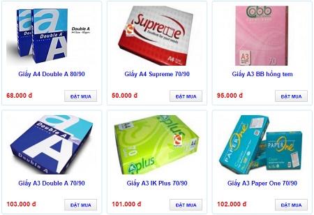 Bán buôn bán lẻ các loại giấy in cao cấp giá rẻ, các hãng
